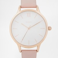 Oasis Pastel Pink Leather Watch