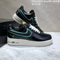 DCCK2 N621 Nike Air Force 1 07 Mid LV8 Jdi Lntc Leather Casual Skate Shoes Black Green Yellow