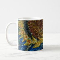 Sunflower Blown Blue Painting Art Mug