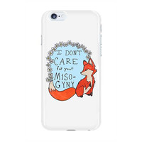 Feminist Fox Doesn't Care For Your Misogyny -- Phone Case