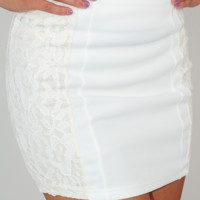 Night After Night Skirt: Ivory