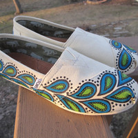 Toms: Hand Painted Design Not including shoes - READ DESCRIPTION