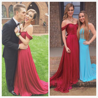 Off Shoulder Prom Dress,Red Long Prom Dresses,Evening Dresses