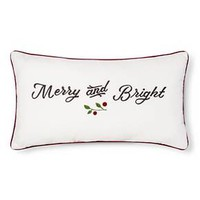 Sour Cream Merry bright Oblong Throw Pillow - Threshold™