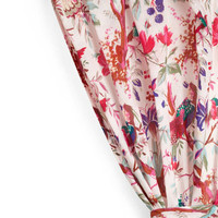 Flora and Fauna and Fabulous Curtain in Pink   Mod Retro Vintage Decor Accessories   ModCloth.com