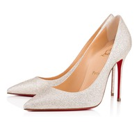 Decollete 554 100 IVORY Glitter - Women Shoes - Christian Louboutin