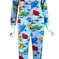 Dr Seuss One Fish Two Fish Hooded Onesuit Footie Pajama