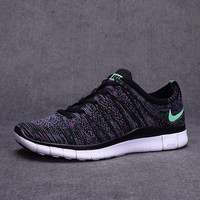 """NIKE"" Trending Fashion Casual Black Mixed Purple Sports Shoes"