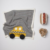 Organic Baby Gift Set - Newborn Security Blanket, Rattle Toys | NYC Taxi, Hot Dog & Pretzel