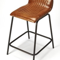 Ludlow Leather & Metal Counter Stool
