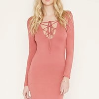 Lace-Up Front Bodycon Dress | Forever 21 - 2000169168