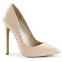 Nude Patent Leather Sky High Sexy Pumps