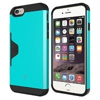 iPhone 6 Plus Case, Phonefoam Golf Fit Case for iPhone 6 Plus Credit Card Holder Case - Retail Packing - Emerald