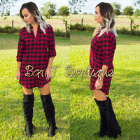 Red Flannel Dress