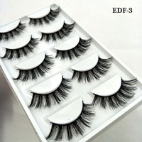 New 5 pairs thick false eyelashes black long 3d mink eyelashes eyelash extension professional mink lashes makeup eye lashes 03