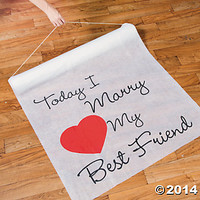 """Today I Marry My Best Friend"" Aisle Runner"