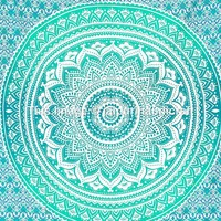 Twin Ombre Mandala Tapestry, Mandala Tapestry Wall Hanging, Psychedelic Wall Art, Dorm Décor Beach Throw