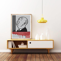 ALFRED HITCHCOCK - Film DIRECTOR - Unique Poster. Limited Edition Print