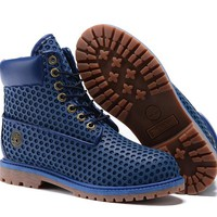 Timberland Women Blue 6 Inch Premium Honeycomb Breathable Boots