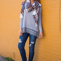 Stand Alone Top, Gray