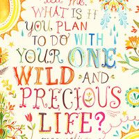 $20.00 Wild And Precious Life 11x14 by thewheatfield on Etsy