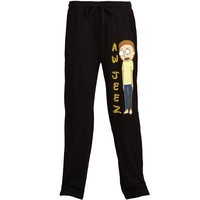 Rick & Morty Aw Jeez Morty Adult Pajama Lounge Pants - Black