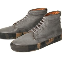 Handen II Grey ($215.00) - Handen is a casual cool addition to our Wafers range. This hi-top sneaker is constructed in a grey nubuck leather, soft to touch but still durable for the usual weekend antics. With blending grey laces the upper is left uninterru