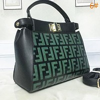 FENDI Fashion New More Letter Leather Shopping Shoulder Bag Crossbody Handbag Satchel Women