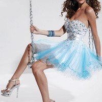Hannah S 27782 Turquoise Homecoming Dress