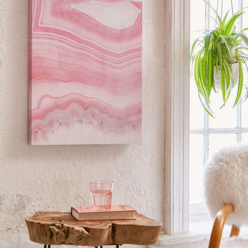 Emanuela Carratoni For DENY Sweet Pink Agate Canvas Wall Art - Urban Outfitters