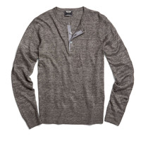 Hudson Henley in Charcoal Heather