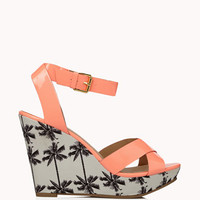 Faux Patent Palm Tree Wedges