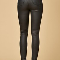 MinkPink Nightrider Black Coated Skinny Jeans at PacSun.com