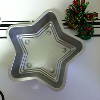 Star Cake Pan Vintage Aluminum Star Shaped Baking Tin Christmas Star Dessert Bakeware Holiday Pastry Cookware Star Lovers 4TH of July Pan