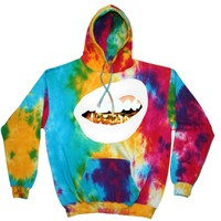 """""""Trill Grill"""" Hoodie (Multi Tie Dye) *choose lips color and size"""
