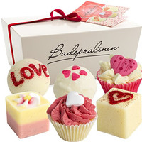 """BRUBAKER Cosmetics 6 Handmade """"Wild at Heart"""" Spa Bath Bombs Bath Melts Gift Set - All Natural Vegan, Organic Shea Butter, Cocoa Butter and Olive Oil Moisturize Dry Skin"""