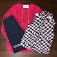 Pinking About You Sweater $32.00