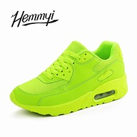 Hemmyi 2018 Women Sneakers Summer Breathable Mesh Brand Shoes for Woman Black Green Red Tenis Feminino Ladies Shoe Basket Femme