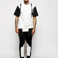 Underated Longline T-Shirt With Mono Cut & Sew