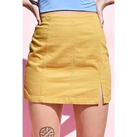 Tuesday Fitted Stretch Mini Skirt - Mustard