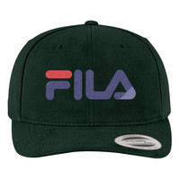 Fila Brushed Embroidered Cotton Twill Hat