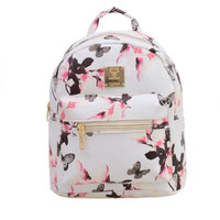 Brand new Woman Backpack Hot Sale Floral Printing Girl's School Backpacks Fashion Women's Leather Bag Gift 1pcs