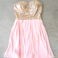 Sparkle & Pink Party Dress [6805] - $52.00 : Feminine, Bohemian, & Vintage Inspired Clothing at Affordable Prices, deloom