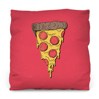 Pizza Party Outdoor Throw Pillow