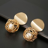 Round Ball Geometric Party Earrings