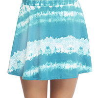 Floral Tie Dye Skater Skirt | Wet Seal