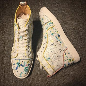 Christian Louboutin CL Python Style #2279 Sneakers Fashion Shoes Online
