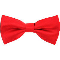 Tok Tok Designs Pre-Tied Bow Tie for Men & Teenagers (B2, Satin Red)