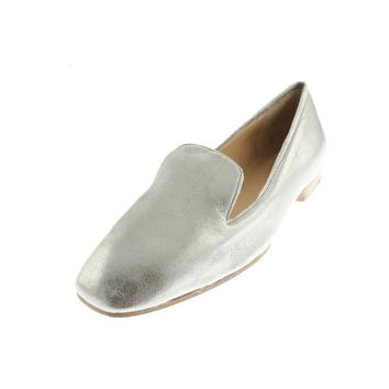 BELLE by Sigerson Morrison Womens Romona Leather Metallic Loafers
