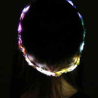 Cute LED flower crown with  for EDC Coachella raves and music festivals